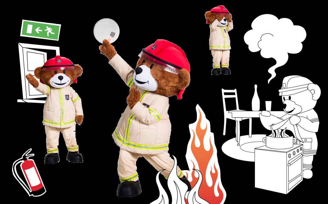 Bjørnis har gode tids til brannøvelse